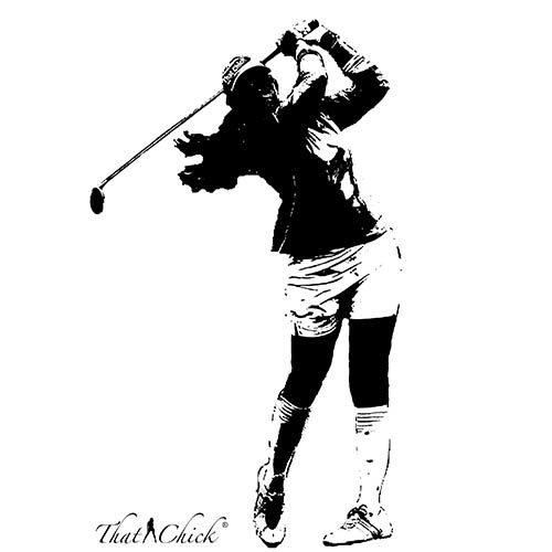 Golf Chick the Lovey Dove Design